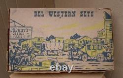 1950's Vintage REL Western Cowboy Wagon Plastic Set Marx Style UNUSED IN BOX