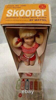 1964 Blonde SKooter Doll #1040 Skippers Friend in Box with Wrist Tag MINTY
