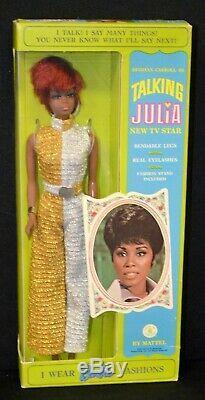 1968 TALKING JULIA Barbie Doll Mint Box Vintage Celebrity Doll 1960's Rare New