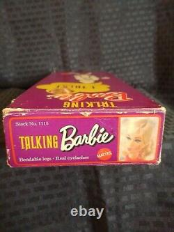 1969 TALKING BARBIE Doll TITIAN Real lashes New in Box #1115 Beautiful Rare