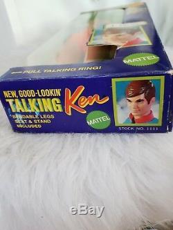 1969 TALKING KEN Barbie doll NEW in Box #1111 Vintage 1960's Rare new KEN Doll