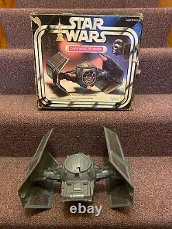 1978 Star Wars Vintage Darth Vader Tie Fighter in Original Box 39100 LIGHT WORKS