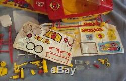 1978 Vintage SPIDER-MAN Helicopter Vehicle 4 Mego W Box Nearly Complete Empire