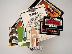 1980 Star Wars Kenner ESB Vintage Slave 1 Vehicle Box & Sticker Sheet, Boba Fett