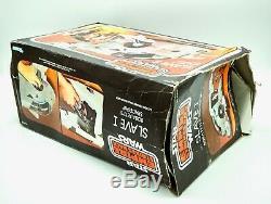 1980 Star Wars Kenner ESB Vintage Slave 1 Vehicle, Sticker Sheet & Box, Slave I