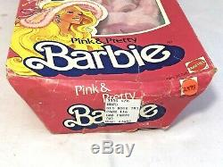 1981 Mattel Pink & Pretty Barbie Doll 3554 Made in the Philippines Damaged Box