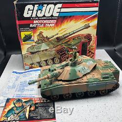 1982 HASBRO VINTAGE GI JOE TOY VEHICLE BOX Motorized Battle Tank Mobat Steeler