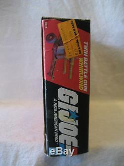 1983 vintage GI Joe WHIRLWIND Twin Battle Gun vehicle set with box 80s Hasbro toy
