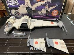 1984 Kenner Star Wars Vintage ROTJ B-Wing Fighter With Original Box Insert & Dir