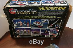 1985 THUNDERTANK #2 100% COMPLETE withBOX VINTAGE LJN THUNDERCATS