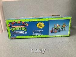 1989 TMNT Toon Turtles RAPH with CYCLE Vintage Teenage Mutant Ninja Playmates New