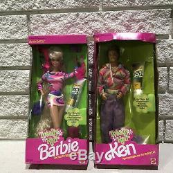 1991 Totally Hair Barbie & Ken Doll in Store Box with DEP Mattel 1112 1115 NRFB