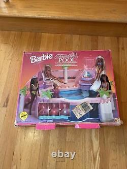 1993 Rare Vintage Barbie Luxury Fountain Pool (Lights Not Working) With Box 90s