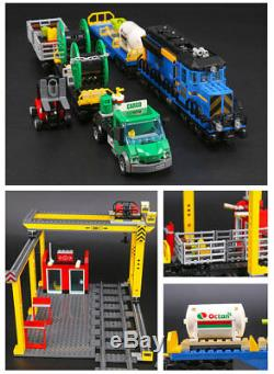 2019 Fast Shipping Custom City Cargo Train Compitible Lego 60052 + Manual Books