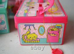 3x Vintage 80's Honey Little Twin Stars Plastic Coin Bank Money Box New Nos
