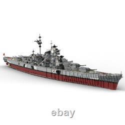 7164pcs MOC-29408 Building Blocks Set for KMS Bismarck Battleship Bricks Toys