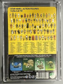AFA 90 Star Wars Vintage KENNER PRUNE FACE 79 Back-A RETURN OF JEDI ROTJ 1984