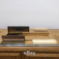 Antique Velvet Jewelry Presentation Box Lot Ring Display VTG Empty Yellow Deco