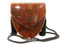 Authentic Excellent Yves Saint Laurent Vintage Shoulder Bag Leather Box 71636 B