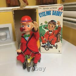 Bandai Vintage Tin & Plastic Cycling Daddy With Box! 100% Original & Working