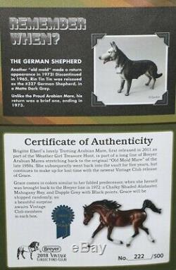 Breyer GRACE Vintage Club Weather Girl Arabian horse only 166 Sticker, Box, COA