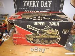 Cherilea vintage action man viper tank boxed
