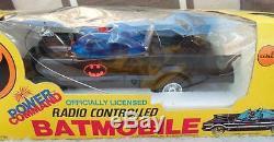 DC BATMAN AHI 1977 ORIGINAL BOXED BATMOBILE vintage power command radio control
