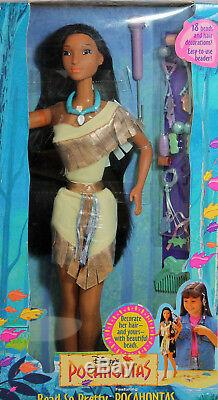 Disney Bead-So-Pretty Pocahontas Doll 1995, NRFB Mint withLN box -14055