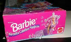 European Barbie Sirenita Cabellos Magicos Little Mermaid Magic Hair 1993, box