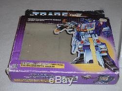 G1 Boxed Transformer Prerub Soundwave Buzzsaw 1984 Vintage Near Complete Rare