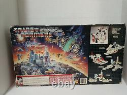 G1 Metroplex withBox & Styrofoam Insert Transformers Vintage Plastic Tires 1986