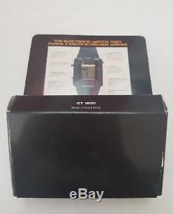 GCE GAME TIME WATCH Vintage Video Game Watch 1982 In box Works