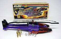GI JOE COBRA MAMBA Vintage Action Figure Vehicle Helicopter COMPLETE withBOX 1987