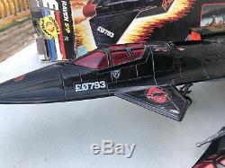 GI JOE COBRA NIGHT RAVEN S3P Vintage Vehicle Jets withBOX 1986