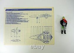 GI JOE PHANTOM X-19 STEALTH Vintage Figure Vehicle Jet COMPLETE withBOX 1988
