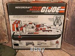 GI JOE Vintage 1984 Killer Whale Hovercraft Hasbro Near Complete In Box