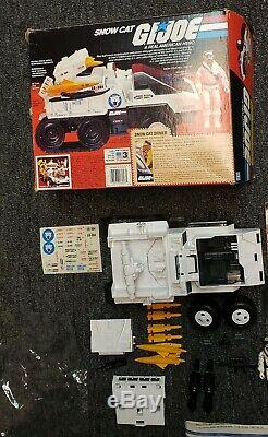 GI Joe Snow Cat 1985 Vintage Complete With Box Never Assembled Unapplied Stickers