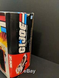 GI Joe Snow Cat Vehicle 1985 Loose Vintage With Box 3.75 Figure Hasbro