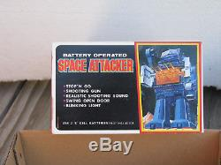 HORIKAWA Vintage B/O 9 SPACE ATTACKER Plastic Robot Toy NEW in Box JAPAN