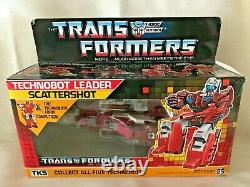 Hasbro Vintage Transformers G1 Technobot Leader Scattershot 1986 New In Box(B44)