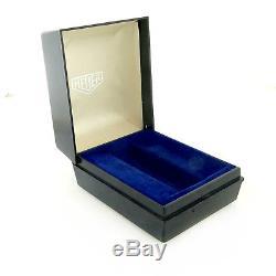 Heuer Vintage Navy Blue Plastic Watch Box