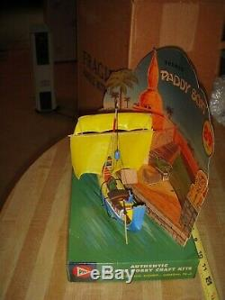 Ideal Vintage Hobby Shop Dealer Display PYRO Model Kit 1960 Paddy Boat Ship Box