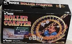 K'NEX Classic Roller Coaster COMPLETE SET 63030 DC Motor, Box, Original Vintage