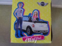 Ken Barbie My Cool Mini Cooper White Car NEW IN BOX Mattel =RARE=