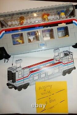 LEGO Metroliner Trains 9V 10001 & 10002 w Box, Instructions-Mostly Complete