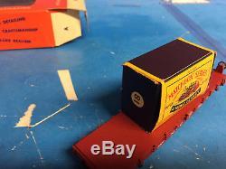LIONEL NYC Flatcar -w- Matchbox # 18 HO SCALE # 0807-1 In Original Box Vintage