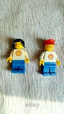 Lego Shell 377 Garage, Petrol Tanker 671, Petrol Pumps Set 6010 Vintage Bundle