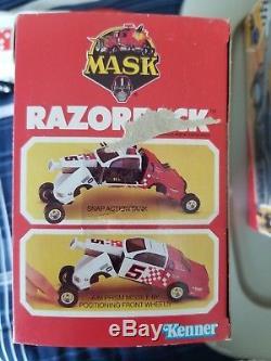 M. A. S. K. By Kenner 1987 Razorback & Brad Turner & Original Box Mask VINTAGE