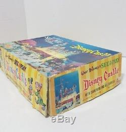 MARX See & Play Clear DISNEY Castle, Box, Play Mat & Disneykins RARE HTF VINTAGE
