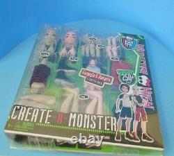 MONSTER HIGH Rare Create A Monster Gargoyle Vampire Boy Set with Display Box L@@K